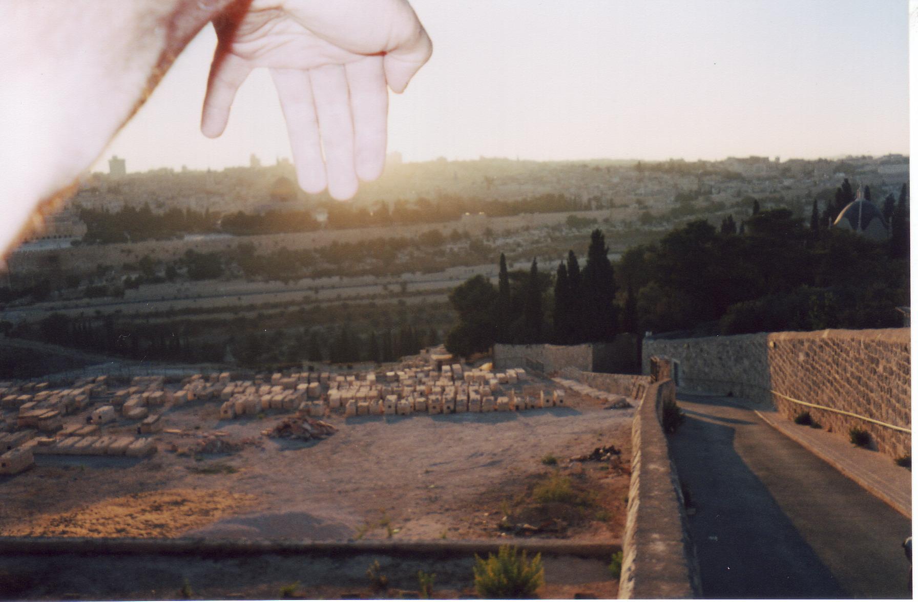 вид с кладбища на Масличной горе