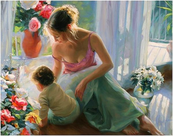 мама и малыш В.Волегов