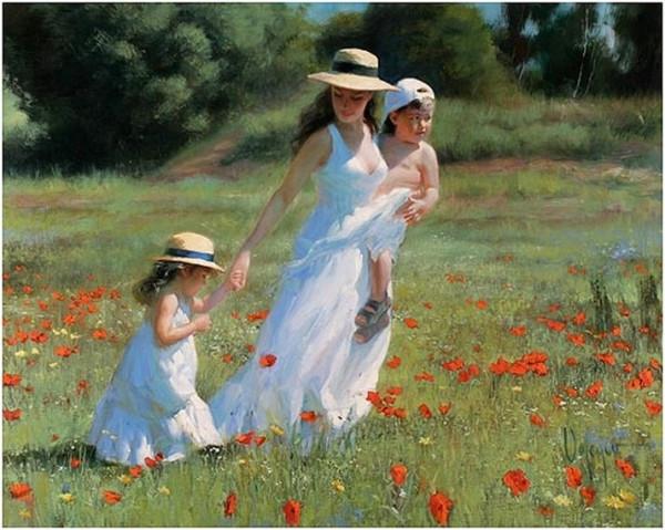 мама и дети В.Волегов