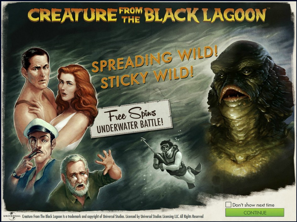 Creature from the black lagoon Чудовище из Черной Лагуны слот