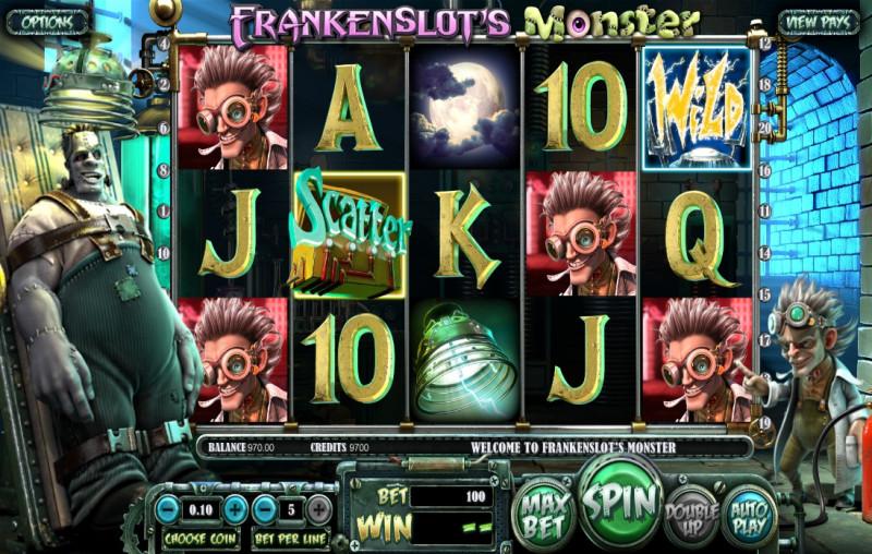 Frankenslot's Monster – аппараты игровые бесплатно, без регистрации - Google Chrome