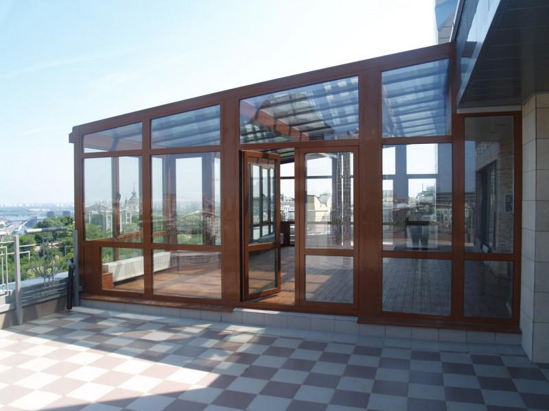 Алюминиевые конструкции для остекления фасадов в Астане