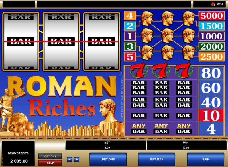 Игровой аппарат Roman Riches онлайн