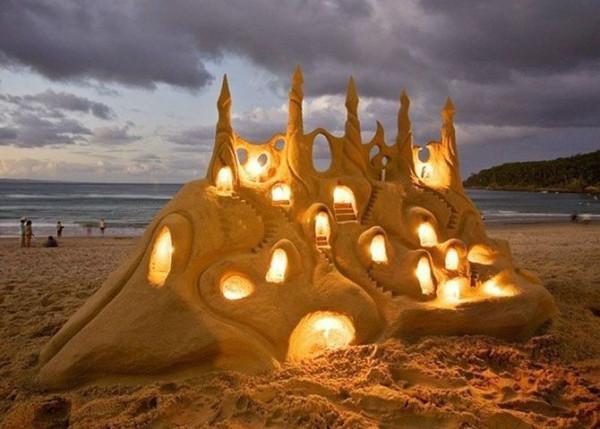 замок из песка1