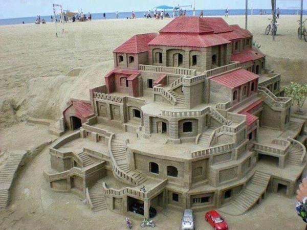 замок из песка2