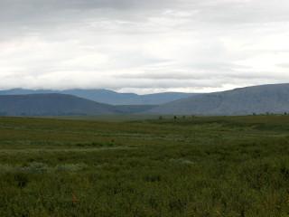 Облака на вершинах Полярного Урала