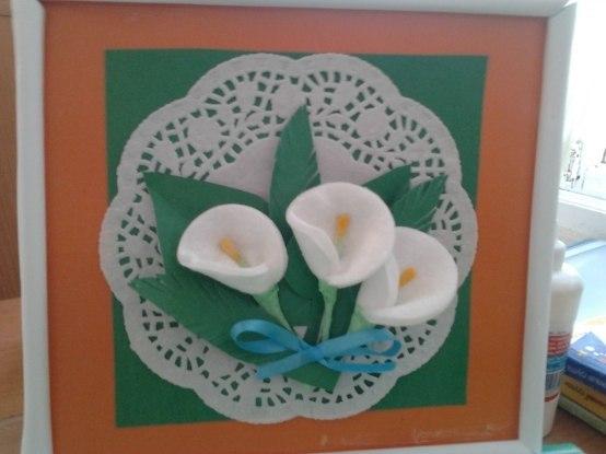 Поделки из ватных дисков на 8 марта цветы