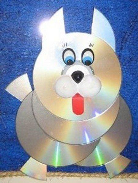 Поделки своими руками из компакт дисков для детей