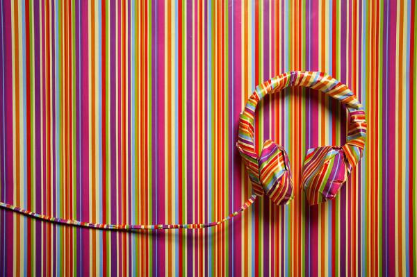 headphones-in-striped-paper-landscape-emma-innocenti