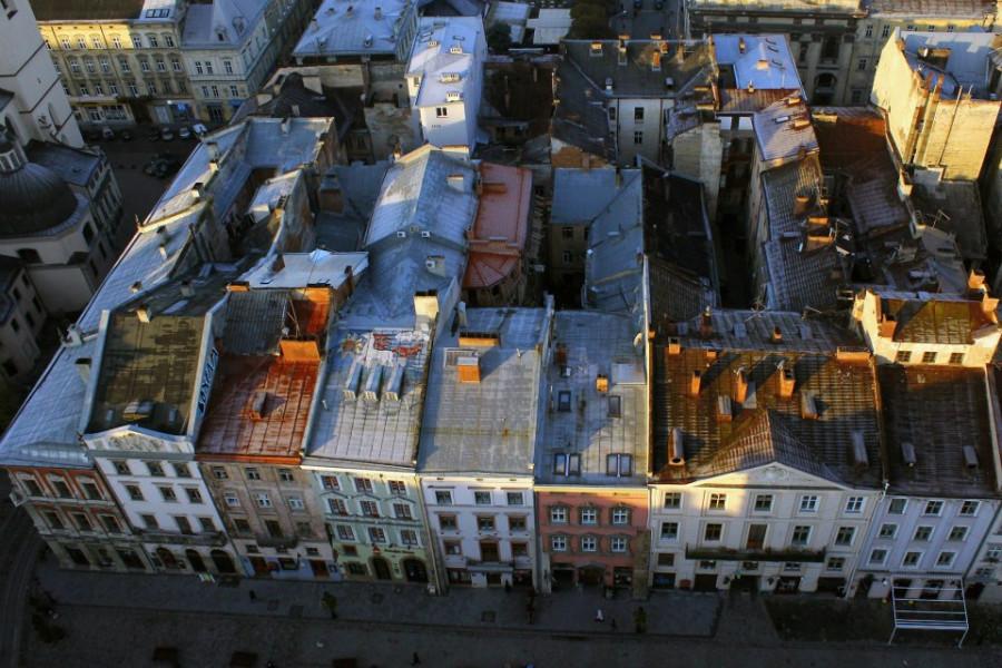 Вигляд з львівської Ратуші.