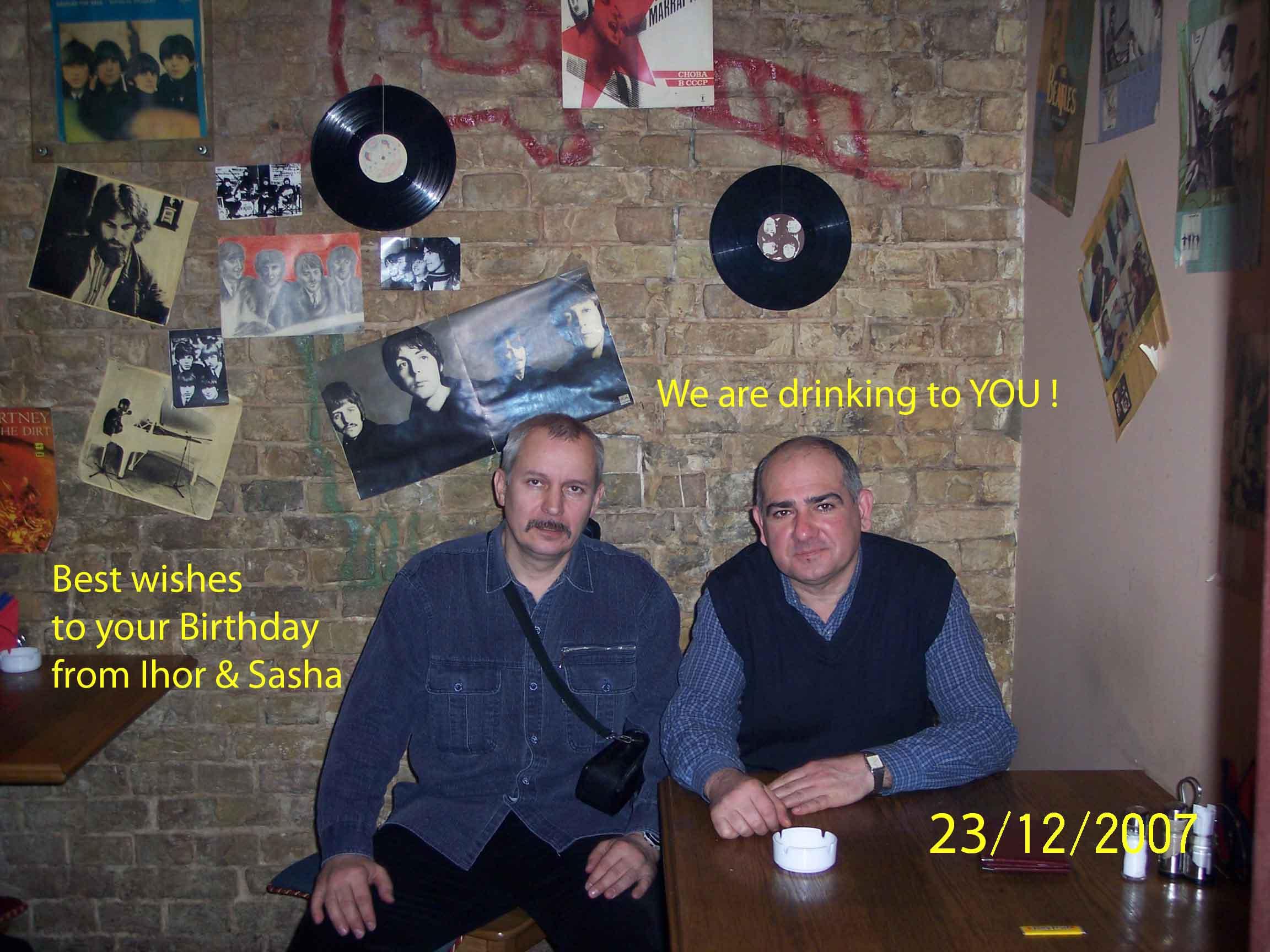 Sasha&Ihor in Beatles' Cafe1