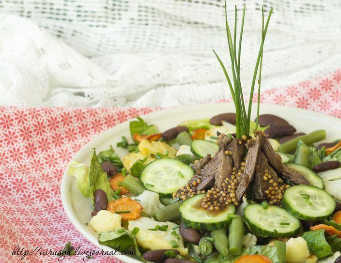 Мясной салат рецепт на поваренок