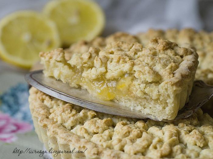 тертый пирог с лимоном и апельсином рецепт