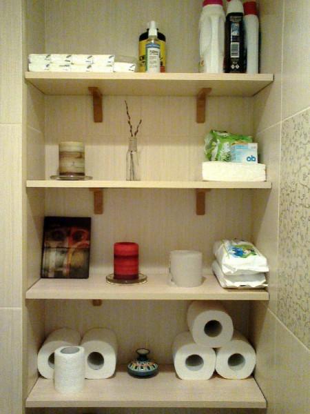 Как сделать полочки в туалете своими руками - Сделай дочке