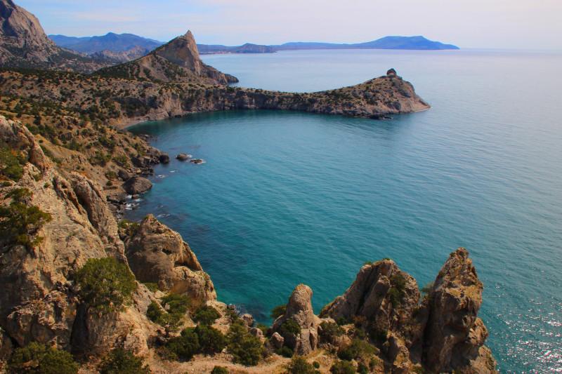 Вид на море с маршрута на г. Караул Оба