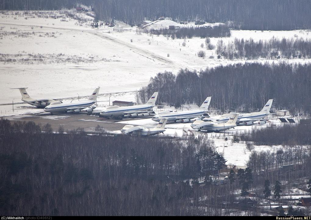 Стоянка самолетов Ил-80 / Ил-86ВКП