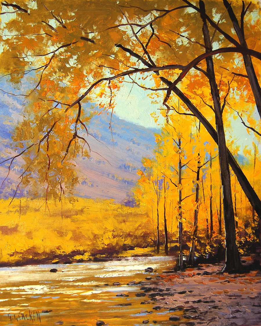golden_aspen_painting_by_artsaus-d5afrsp