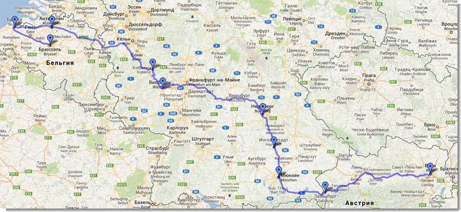 Маршрут-Свадебного-Путешествия!---Карты-Google
