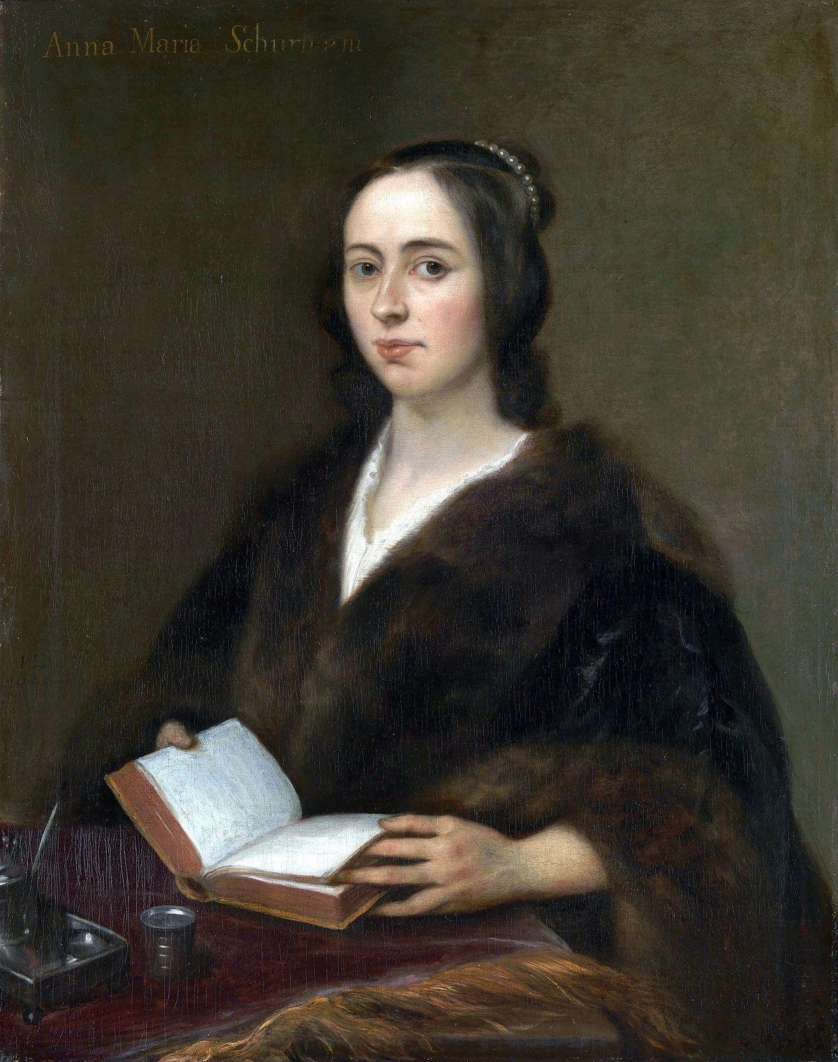 Анна Мария ван Шурман (1607-1678) - немецкая и нидерландская поэтесса, гравёр, разносторонний учёный.