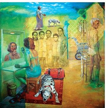 Анупам Суд (1944-) - индийская художница и гравировщица.