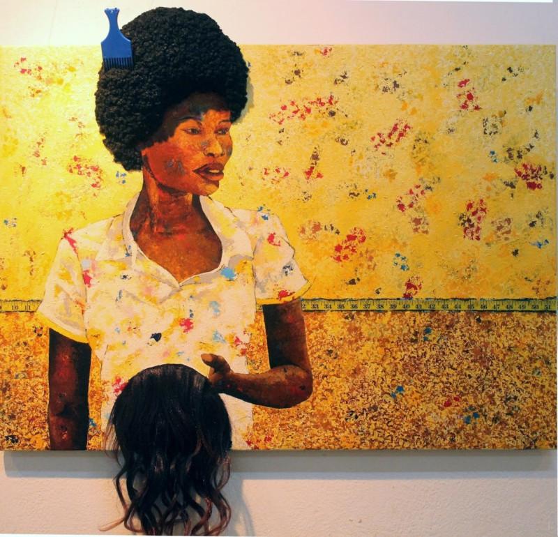Муленга Муленга (1987-) - художница из Замбии.