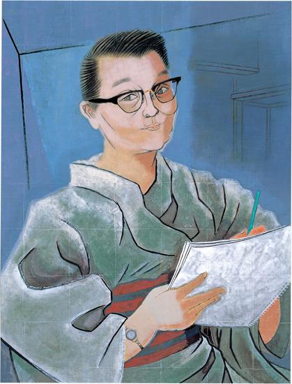 Юки Огура - (1895-2000) японская художница, первый член Академии Изящных Искусств Японии, известна своими натюрмортами, жанровыми сценами и портретами женщин. Дожила до 105 лет.