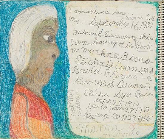 Минни Эванс (1892-1987) - афроамериканская художница-самоучка.