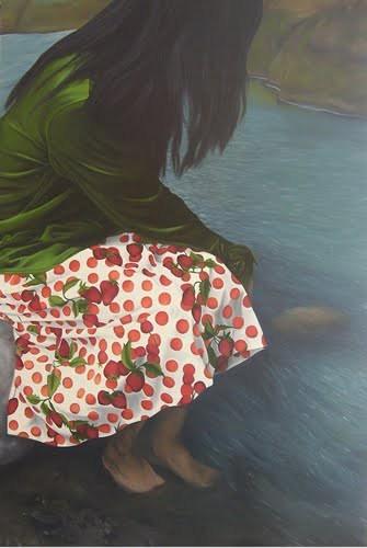 Джеральдин Хавьер (1971-) - филиппинская художница, пишущая портреты в смешанных техниках.