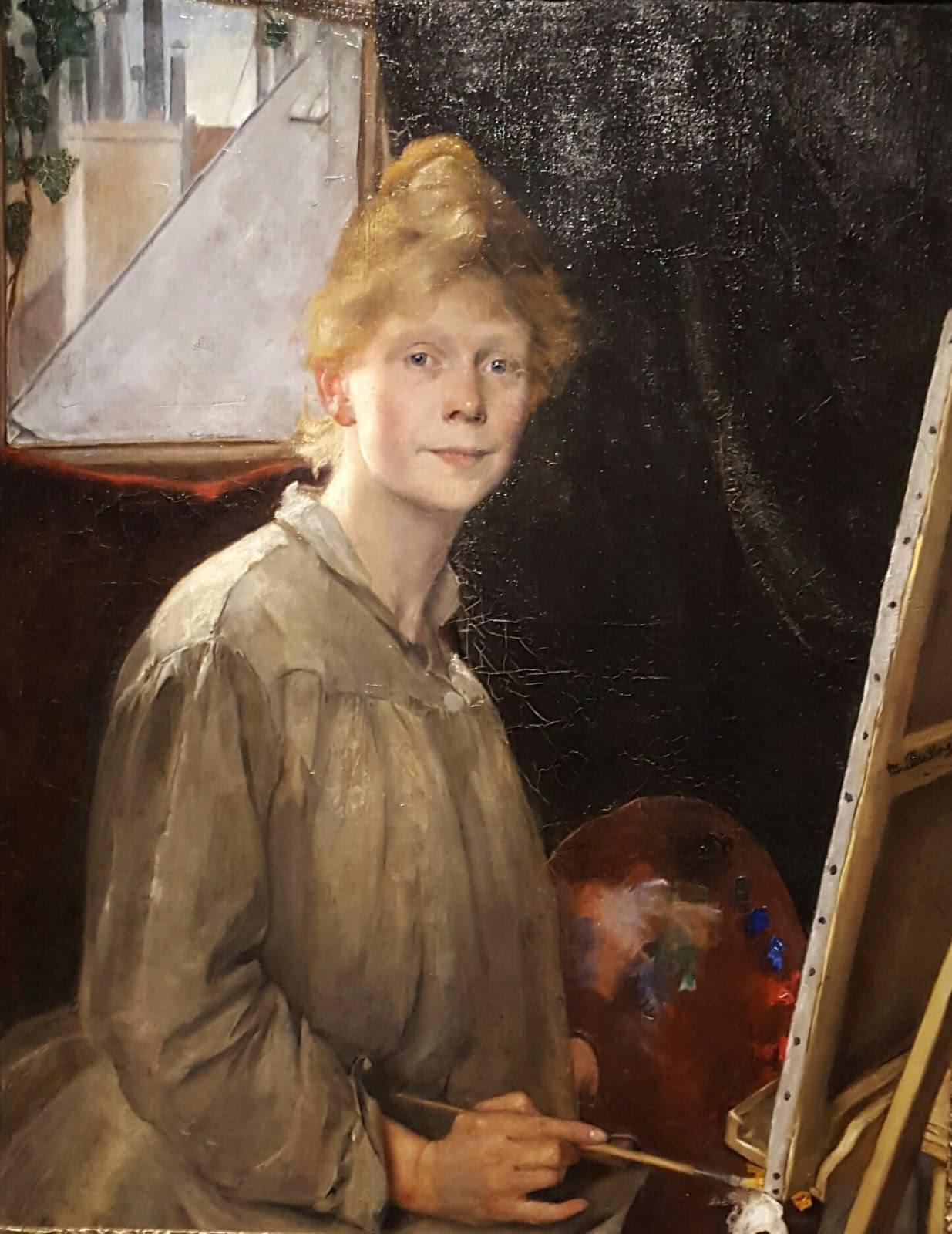 Мина Карлссон (1857-1943) - шведская художница, известная картинами, изображающими сцены из повседневной жизни.