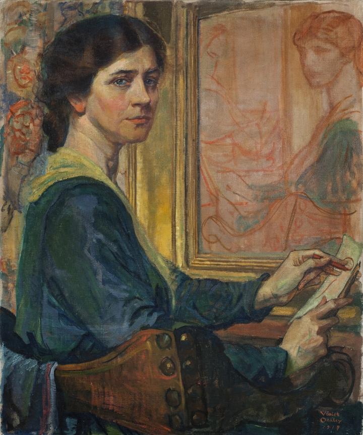 Вайолет Оукли (1874-1961) - первая художница-муралистка Америки.