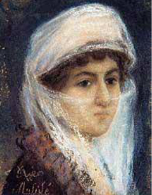 Мюфиде Кадри (1889-1912) - турецкая художница и композитор. Писала, в основном, портреты.