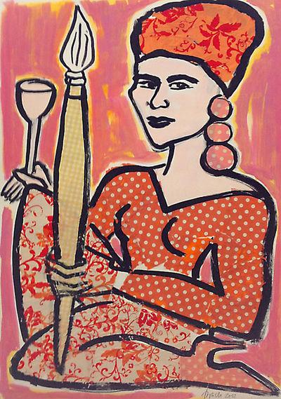 Эльвира Бах (1951-) - немецкая художница-постмодернистка, известная яркими женскими портретами.
