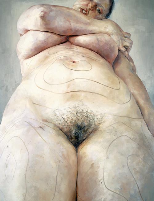 Дженн Савиль (1970-) - британская художница, известная монументальными образами женщин.