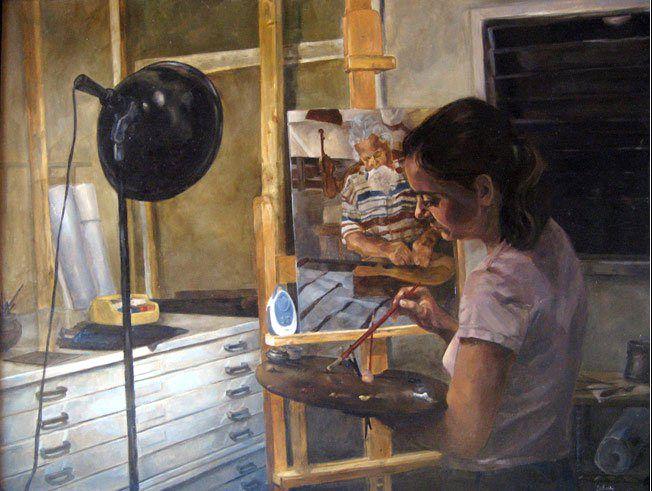 Алия эль-Бермани - американская художница арабского происхождения.