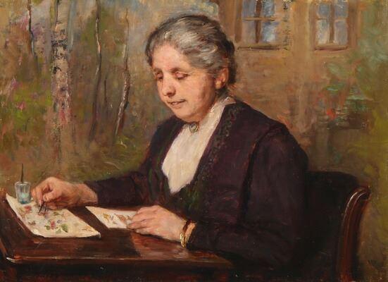 Августа Дольманн (1847-1914) - датская художница, мастерица натюрморта.