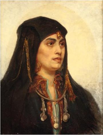 Хильда Монтальба Портрет восточной женщины.