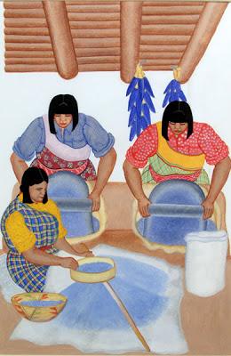Паблита Веларде Голубая кукуруза.