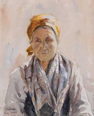 Элизабет Элеонор Гриаторекс Портрет женщины из Греции.