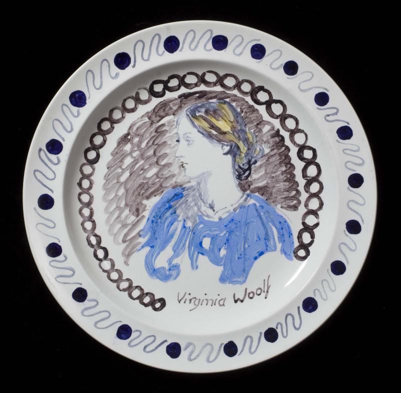 Ванесса Белл Тарелка с изображением Вирджинии Вульф
