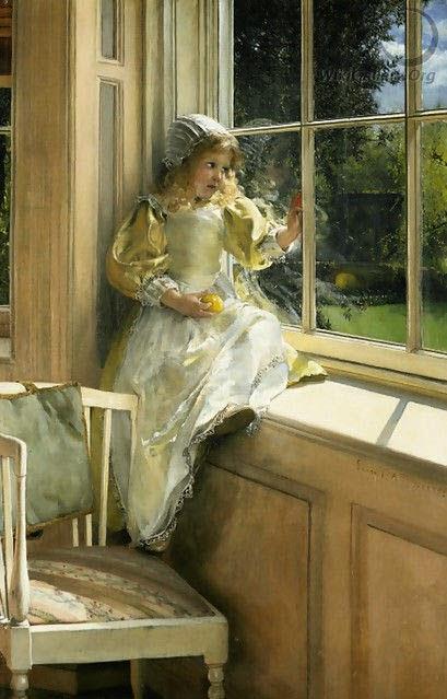 Лаура Альма-Тадема Глядя в окно