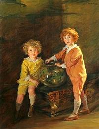 Лидия Филд Эммет Золотая рыбка (портрет Роланда и Питера Хазардов)