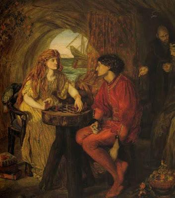 Люси Мэдокс Браун Фердинанд и Миранда играют в шахматы.