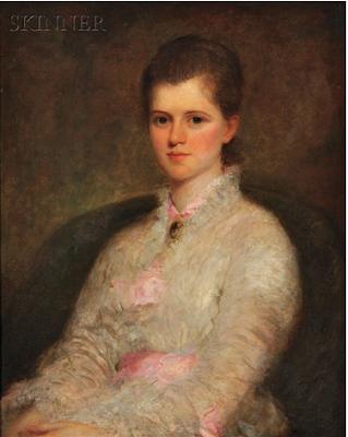 Розина Эммет Шервуд Портрет девушки в розово-белой блузке