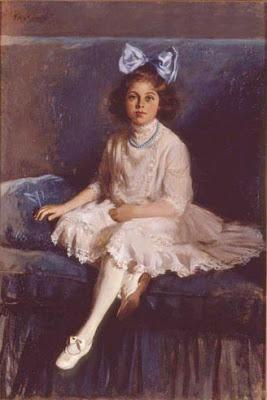 Эллен Эммет Рэнд Портрет девочки в голубом и белом