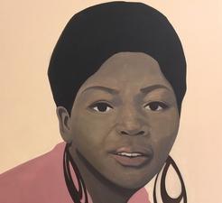 Тенживе Ники Нкоси Портрет южноафриканской певицы Летты Мбулу.