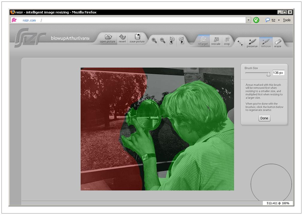 rsizr.com - intelligent image resizing, Ресайз (масштабирование) картинок с учётом изображённого сюжета (Content Aware Image Resizing). Микеланджело Антониони (Michelangelo Antonioni) - Фотоувеличение / Blowup