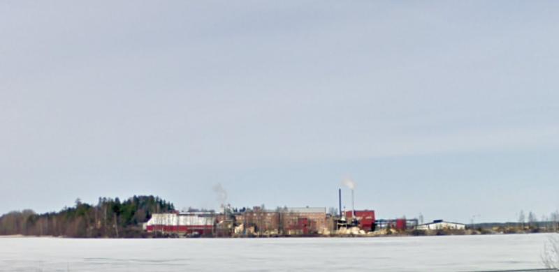 UPM-Kymmene Woodin Kalson tehdas (kuva: google street view)