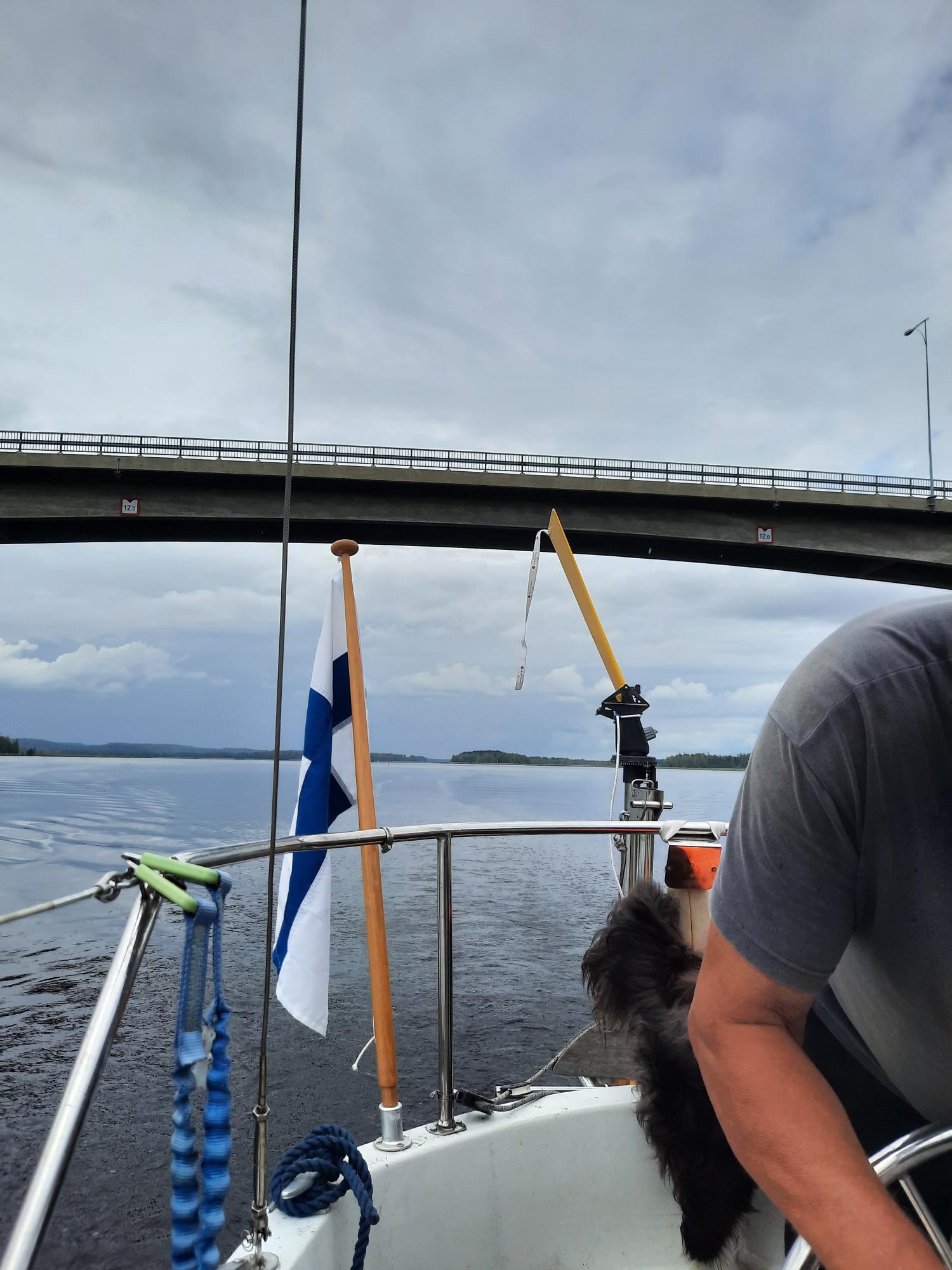Akkalansaaren silta (Onkivesi). Tie 5646).