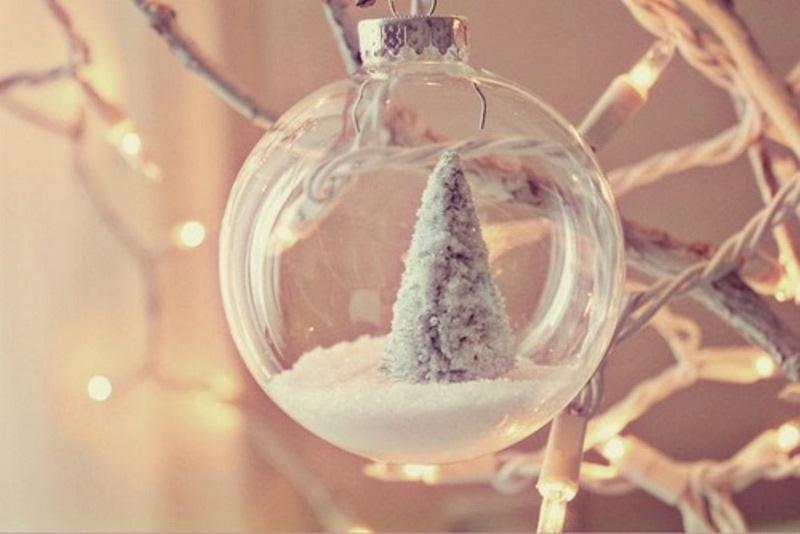 Елка внутри новогоднего шарика