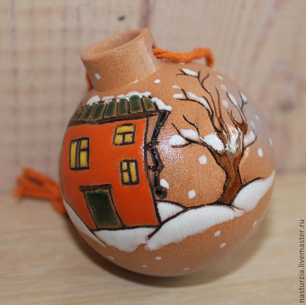 Керамический елочный шар